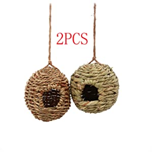 NAKLJJ Hanging Bird House - Bird Houses for Outside,birdhouses for Outdoors Hanging,Set of 2 Hummingbird House. …
