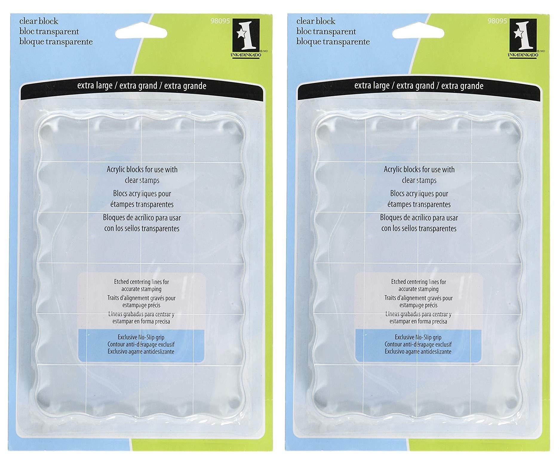 Inkadinkado Extra Large Acrylic Mounting Block for Clear Stamps, 4.5'' W x 6.5'' L (Тwo Рack)