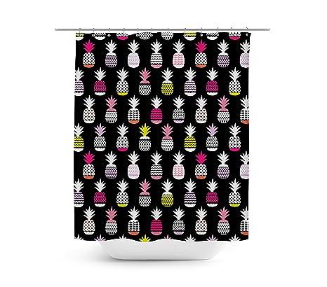 Neon piñas cortina de ducha – Único en 4 tamaños para cualquier cuarto de baño,