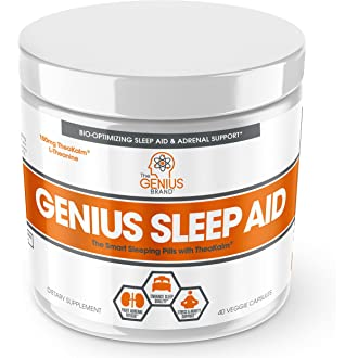 #11 Genius Sleep AID – Smart Sleeping Pills & Adrenal Fatigue Supplement, Natural Stress, Anxiety
