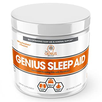 Genius Sleep Aid Smart Sleeping Pills Adrenal Fatigue Supplement Natural Stress Anxiety
