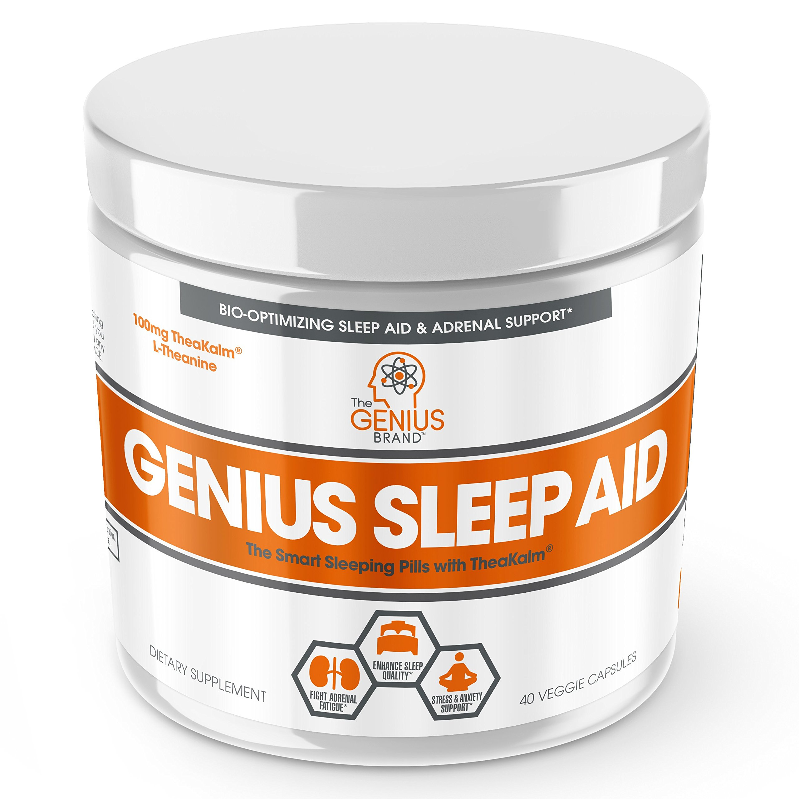 Genius Sleep AID – Smart Sleeping Pills & Adrenal Fatigue Supplement, Natural Stress, Anxiety