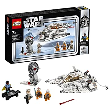 LEGO 75259 Star Wars Snowspeeder-20th Anniversary Edition Set, Battle of  Hoth, Colourful