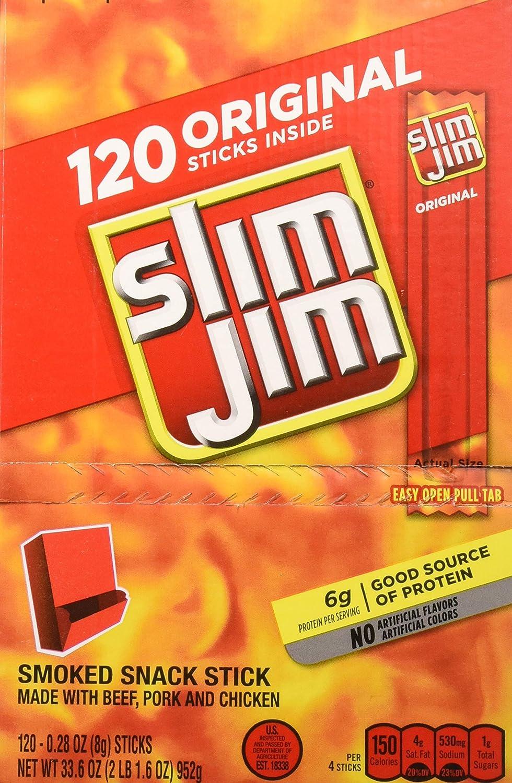 Slim Jim - Palos de snack originales, 0,28 once, 14 unidades ...