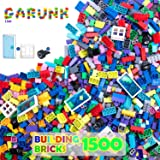 GARUNK 1500 Pieces Building Blocks for Kids, Classic Building Bricks with Wheel, Tire, Axle, Door, Windows STEM Contruction T