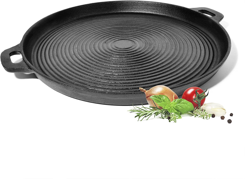 ToCis Big BBQ - Plancha para barbacoa, carne y pizza (hierro fundido), Grill.