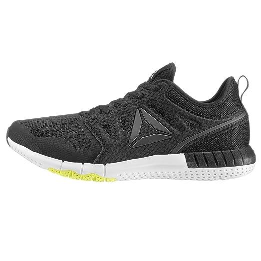 Reebok BS7234, Zapatillas de Trail Running para Hombre, Negro (Black/Solar Yellow/White/Pewter), 40 EU