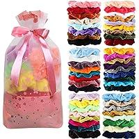 50-PiecesVelvet Scrunchies Elastics Hair Bands (Assorted Color)