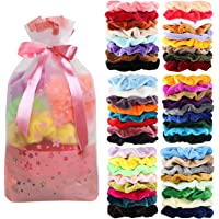 Amazon Price History for:50 Pcs Velvet Hair Scrunchies Assorted Color Elastics Hair Bands Hair Ties Hair Accessories for Women or Girls …