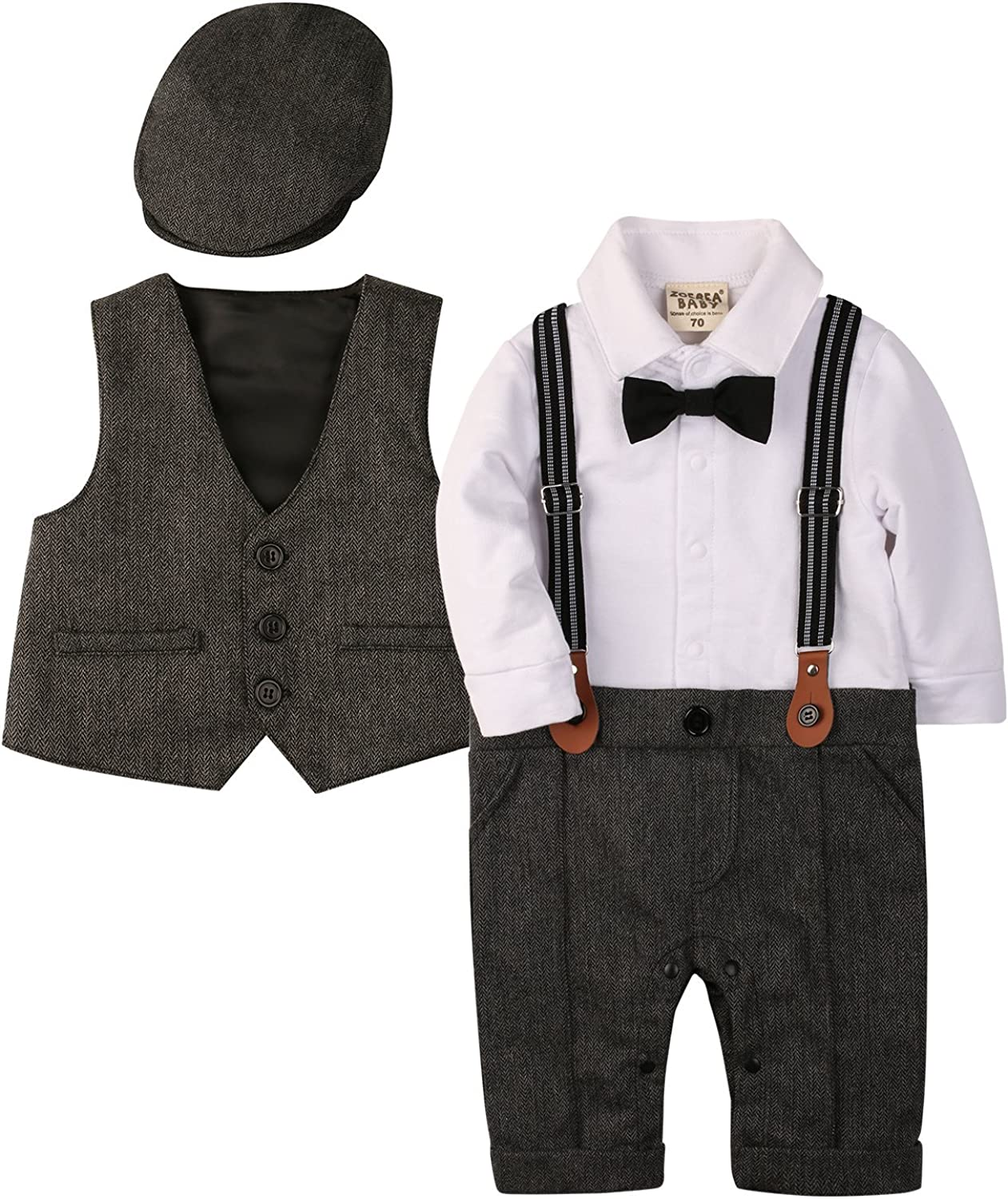 Pants Straps Outfits Toddler Boy Gentleman Party Wedding Formal Straps Suits ZOEREA Baby Boys Clothing Sets Bow Ties Shirts