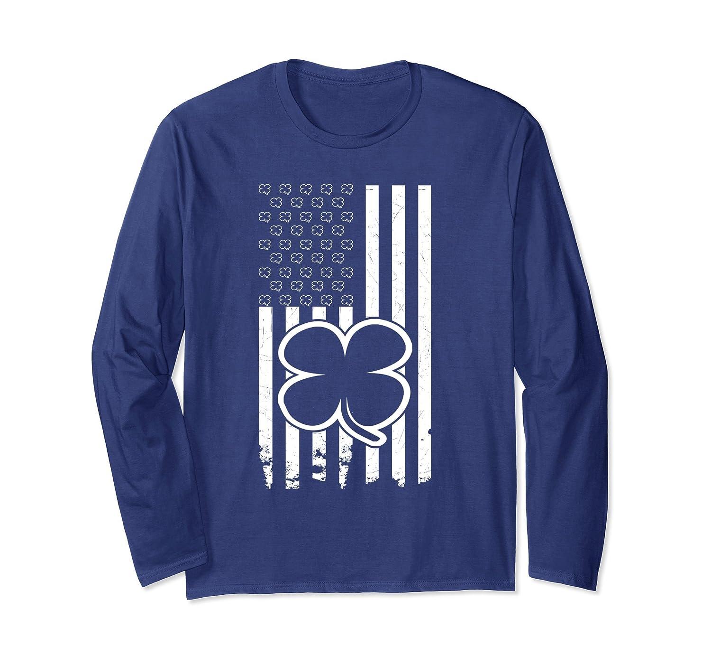 Distressed Shamrock American Patricks T Shirt