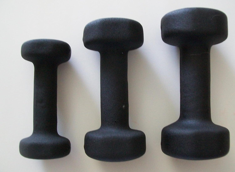 3 lb。、5 lb。、8 lb。ブラックネオプレンCoveredダンベルセット( 3ペア)   B005FGUNHY