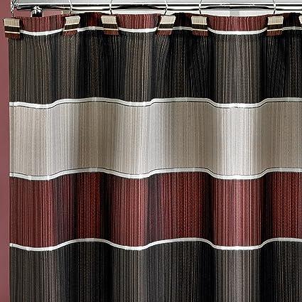 Amazon Popular Bath Fabric Shower Curtain Modern Line