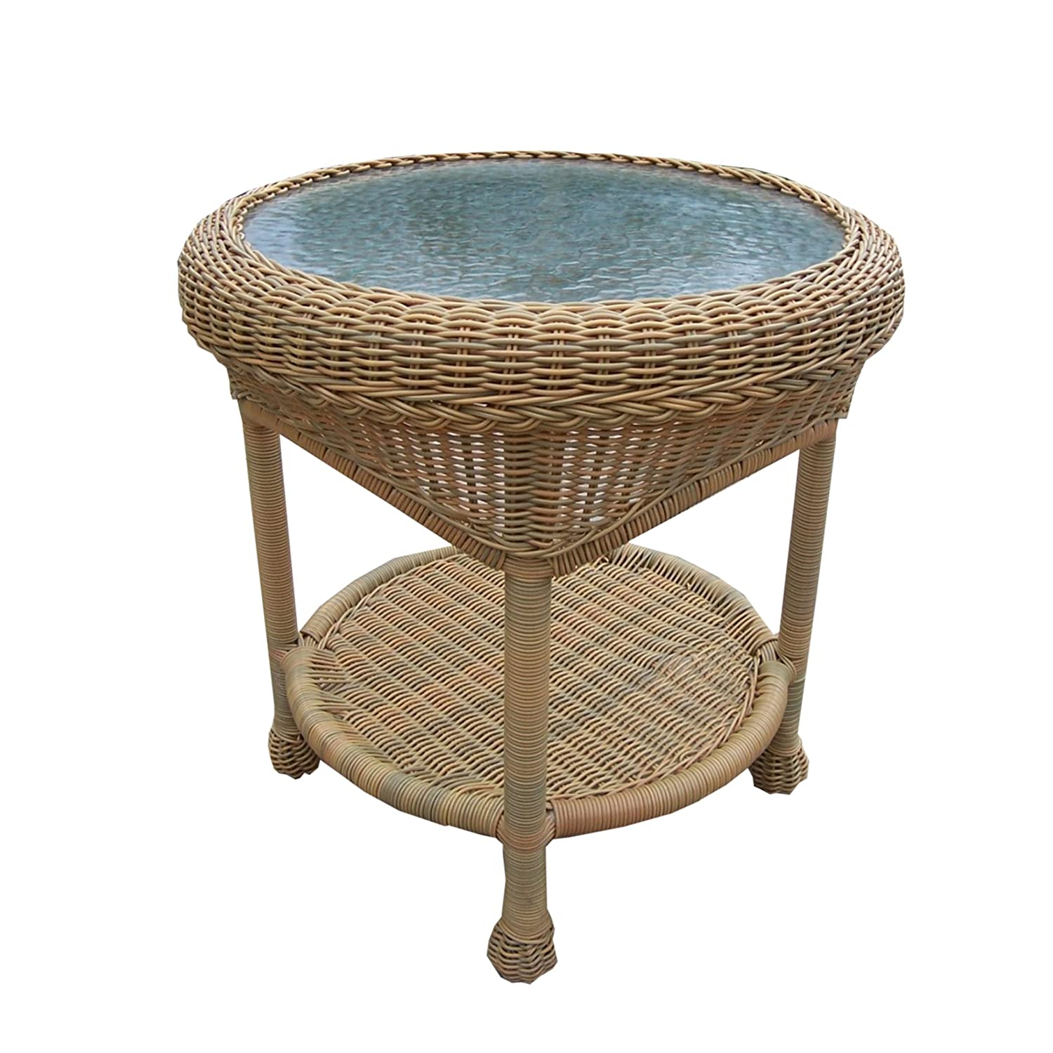 Amazon Oakland Living Resin Wicker End Table 21 Inches