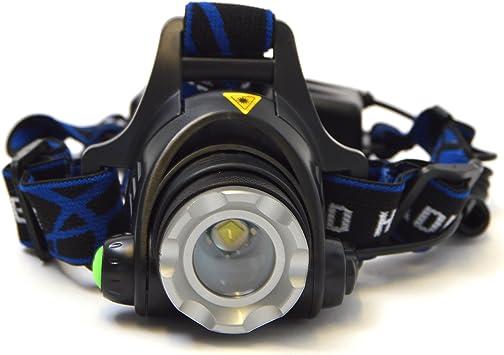 APOLLO Linterna de cabeza Police 600 bateria incluida y cargador ...