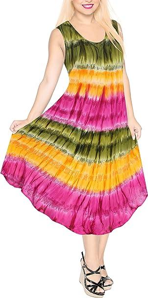 LA LEELA para Mujer Cubierta Suelta de baño Bikini Traje de baño de hasta más del tamaño Vestido marrón Playa