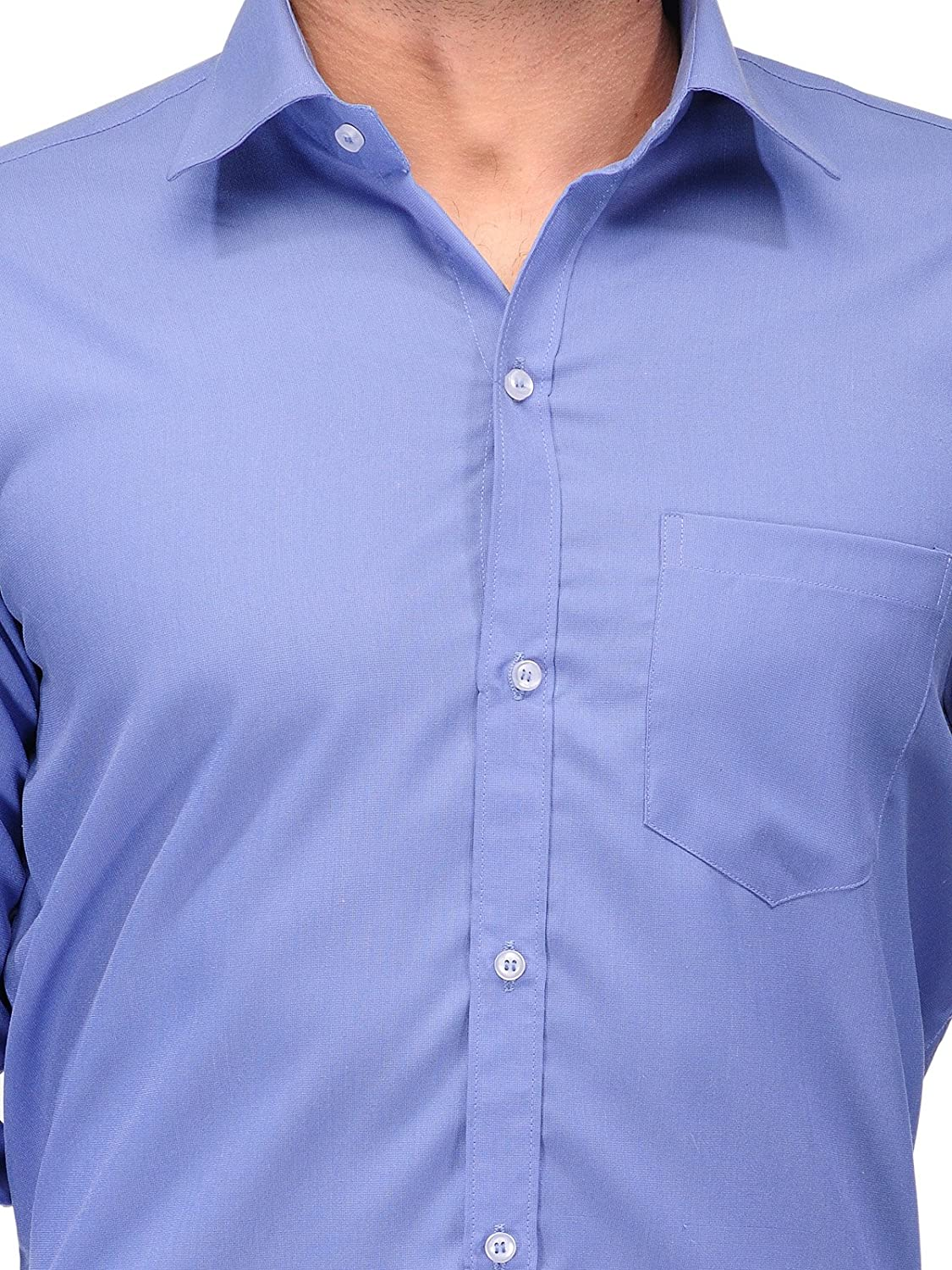 85f5a6969fb Koolpals Men s Cotton Blend Formal Shirts (Kpms Fp04 40Ob Blue 40)  Amazon. in  Clothing   Accessories