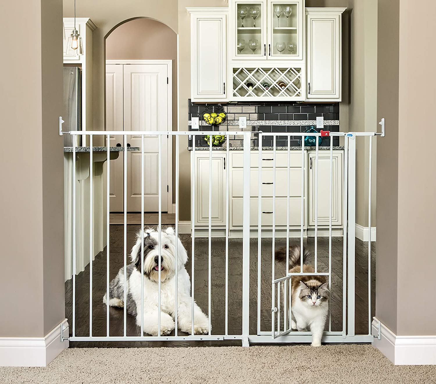 Amazon Carlson Maxi Extra Tall Pet Gate Expands 51 59 Inches