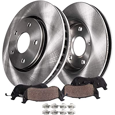 Detroit Axle - Front Disc Replacement Brake Rotors Ceramic Pads w/Hardware for 2010-2015 Lexus RX350 - [2008-2016 Toyota Highlander] - 2011-2020 Toyota Sienna: Automotive