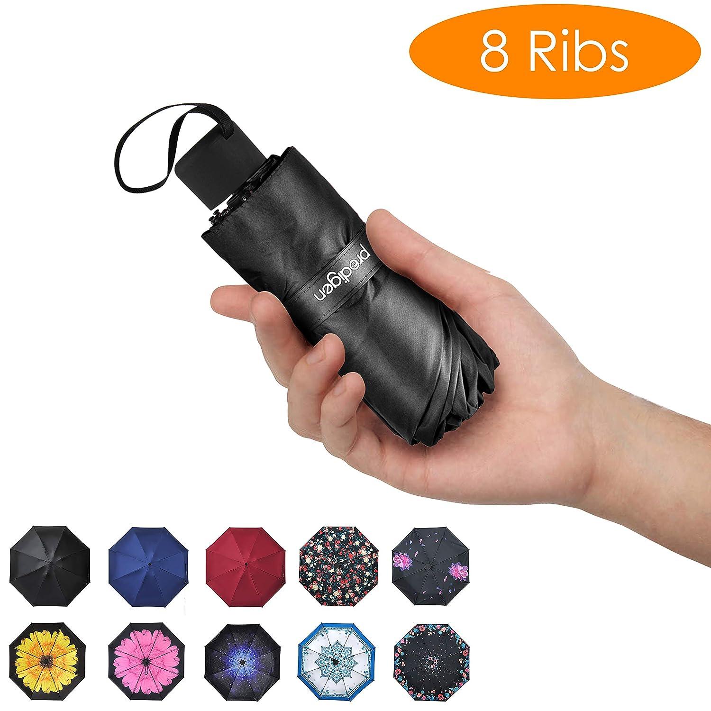 824fd07d271c Prodigen Travel Mini Umbrella Windproof UV Folding Compact Umbrella  Portable Lightweight Sun & Rain Umbrellas for Women and Men