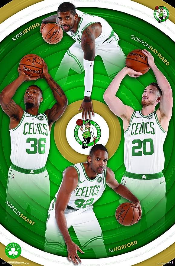 Trends International Boston Celtics Logo Wall Poster 22.375 x 34