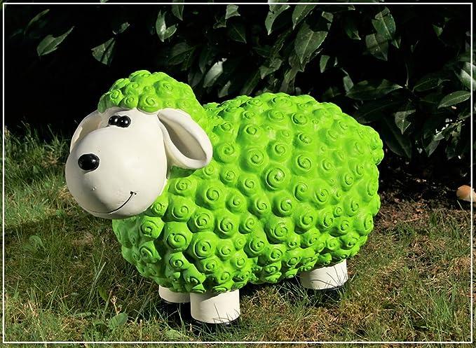 Figura Oveja Susanne en verde multicolor Ovejas Animales figuras para casa y jardín: Amazon.es: Jardín