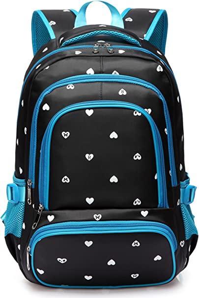 School Backpacks Kids Bookbags Primary Junior School Bag School Backpack Polyester Water Resistant Casual Style Lightweight Travel Daypack for Boys Kids Rolling Backpacks Luggage