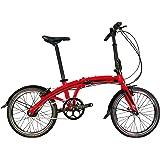 Rymebikes City Bicicleta Plegable, Unisex Adulto, roja, Talla Única