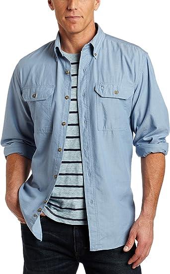 Carhartt S202 Camisa para Hombre con Botones de Cambray Frontales y Ajuste Relajado