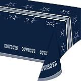 NFL Dallas Cowboys Vinyl Table Cover, One Size, Team Colors
