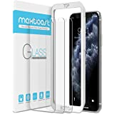 Maxboost Screen Protector for Apple iPhone Xs & iPhone X & iPhone 11 Pro (3 Packs, Clear) 0.25mm Tempered Glass Screen Protec