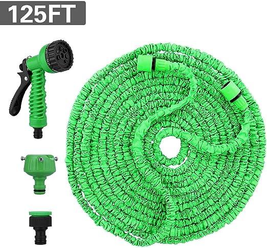 Ovareo 125FT 37.5M Flexible Manguera de Jardín, Manguera Extensible on Ducha Mano jardín de 8 Funciones Jardín Ducha de Mano: Amazon.es: Jardín
