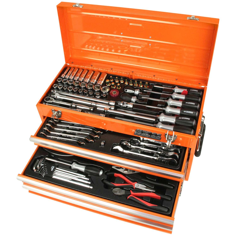 SK11 整備工具セット 133点組 オレンジ SST-16133OR B01IQUVU6I オレンジ