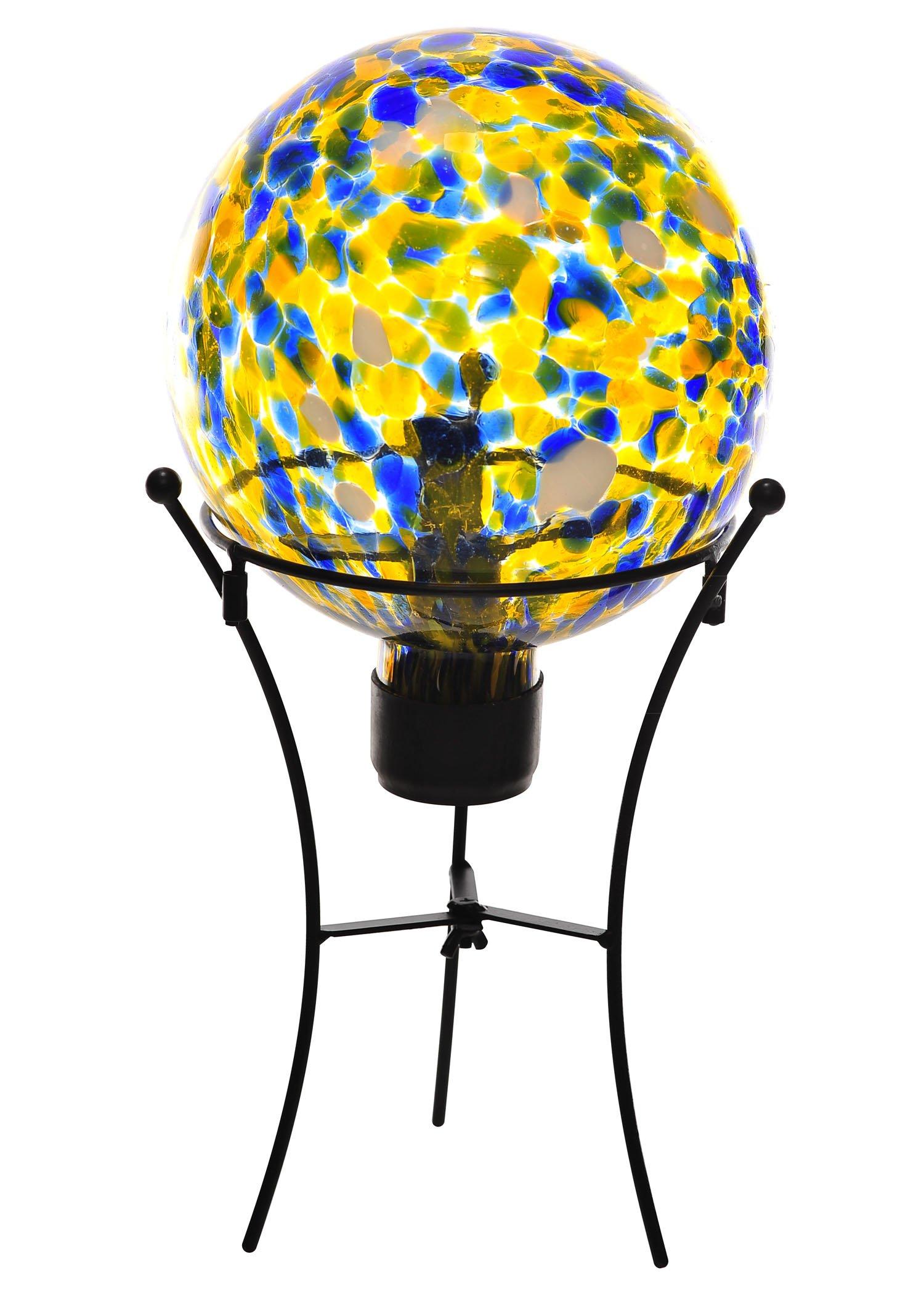 Russco III GD132215 Glass Gazing Ball, Yellow