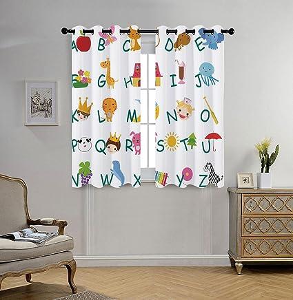 Amazon.com: Stylish Window Curtains,Educational,Cute Kids Alphabet ...