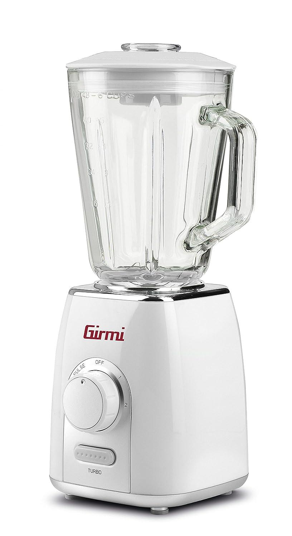 Girmi FR76 Batidora de vaso 1.5L 600W Transparente, Turquesa - Licuadora (1,5 L, Botones, Giratorio, Batidora de vaso, Transparente, Turquesa, CE, ...