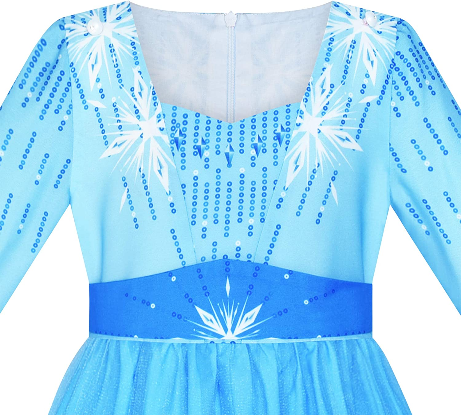 Girls Dress Snow Queen Ice Princess Birthday Party Size 7