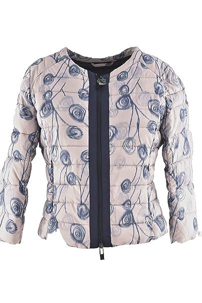 Romeo Gigli Daunenjacke Leicht Damen Floral Slim Sleeve 3 4