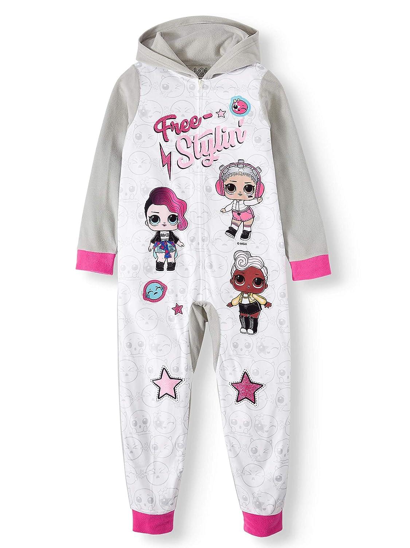 Girls Blanket Sleeper Pajama Large L.O.L Suprise Gray