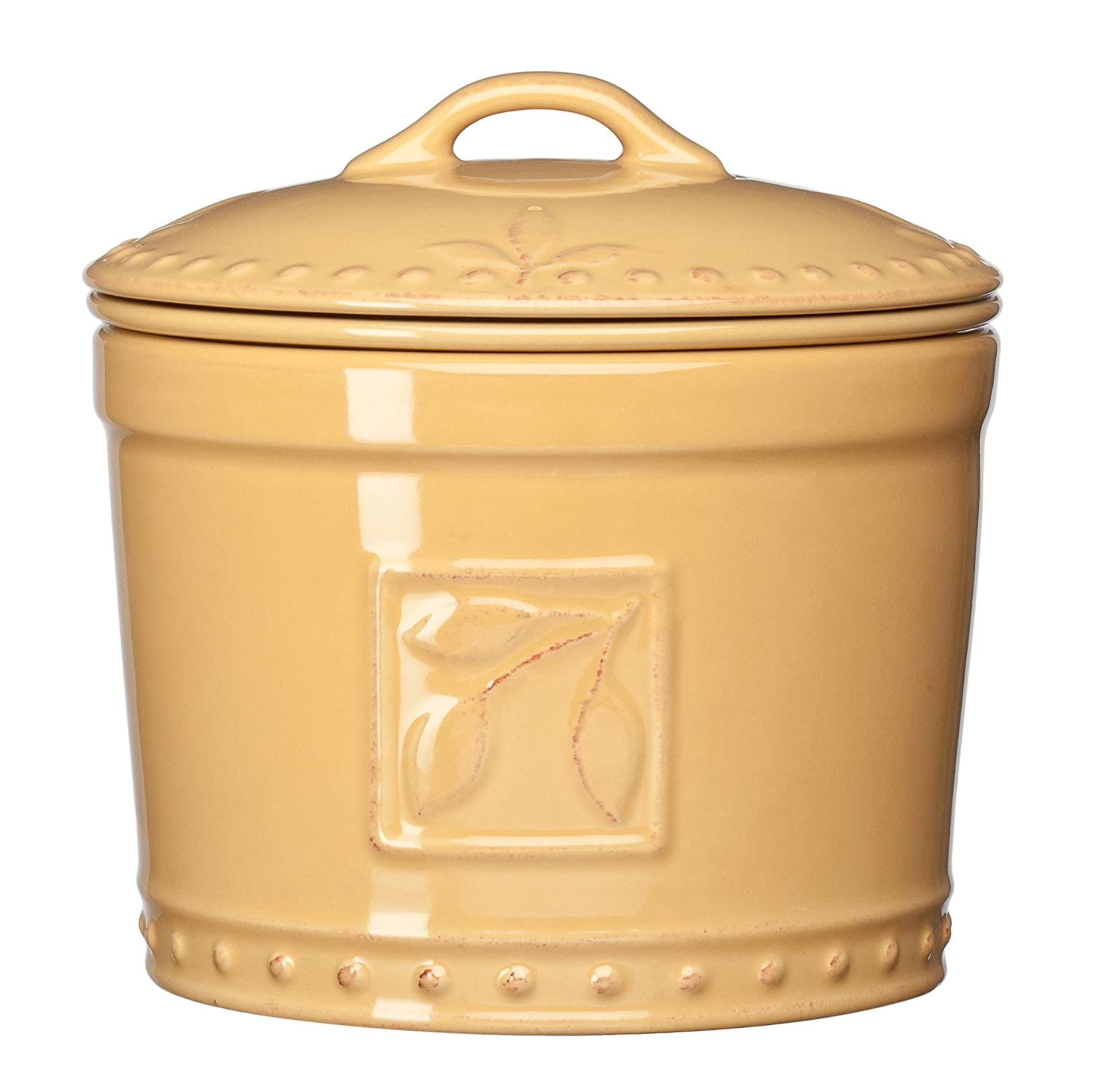 Signature Housewares Sorrento Collection Stoneware Dip Chiller, Gold Antiqued Finish 71019
