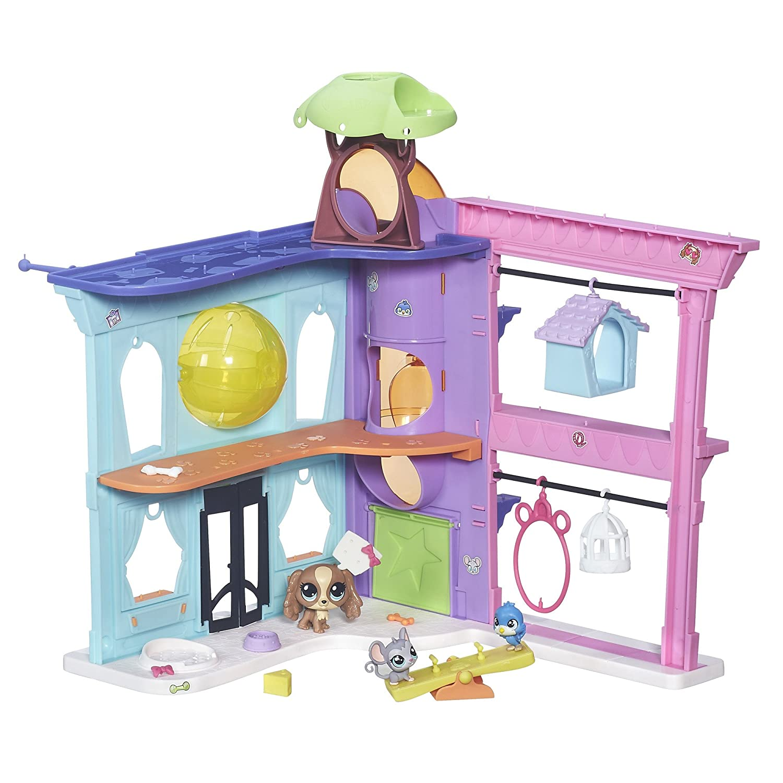 amazon com littlest pet shop pet shop playset toys u0026 games
