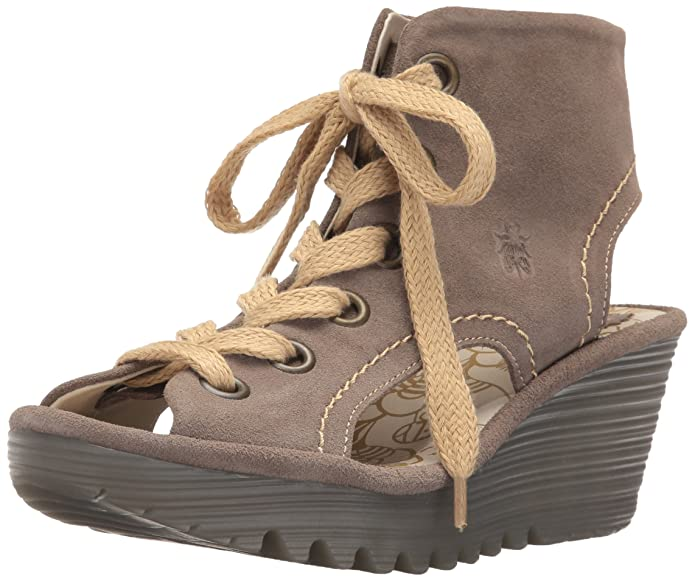 FLY London Yaba702, Sandales Bout Ouvert Femme, Beige (Taupe 004), 39 EU