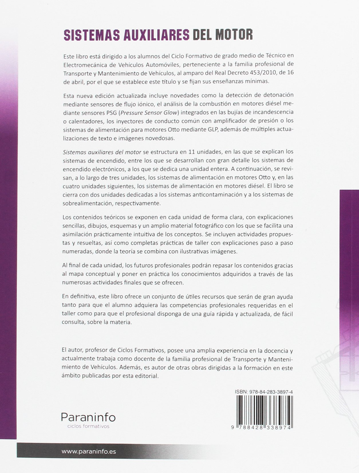 Sistemas auxiliares del motor: MIGUEL ANGEL PEREZ BELLO: 9788428338974: Amazon.com: Books