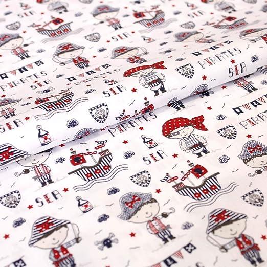 Hans-Textil-Shop - Tela por Metros, diseño de Barcos Pirata de ...