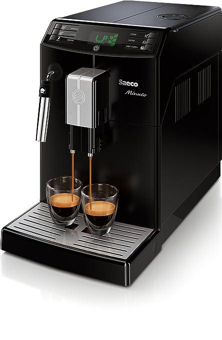 Philips Saeco Minuto Cafetera espresso automáticas, 1850 W, 1.8 litros, Plástico, negro