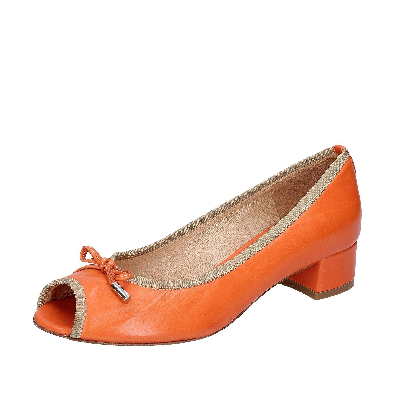 - CALPIERRE Pumps-shoes Womens Leather orange