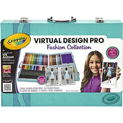 Crayola Virtual Design Pro - Fashion Collection - Budding designers have everything they need to begin creating their own unique fashions and virtual fashion show - comes with a 20-page book with fashion templates, colored pe