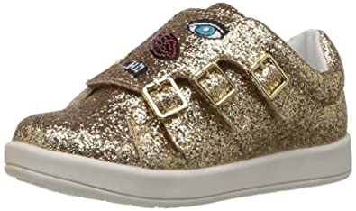 bb2e2dcf5015f Sam Edelman Kids Girls  Liv Wendy-t Sneaker gold glitter 7 M US Little