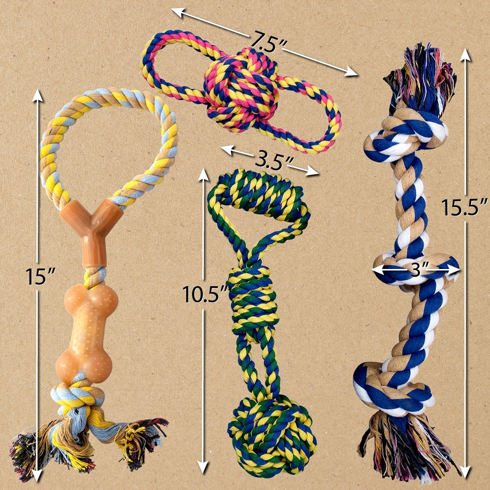 Otterly Pets Puppy Dog Pet Rope Toys - Small to Large Dogs (12-Pack) by Otterly Pets (Image #4)