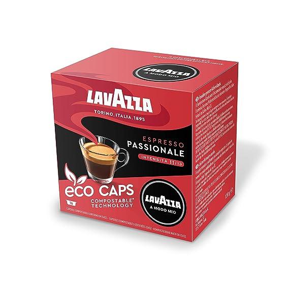 Lavazza A Modo Mio Eco Caps Coffee Pods Espresso Passionale 16 Pack Of 16 256 Capsules 281 Kg